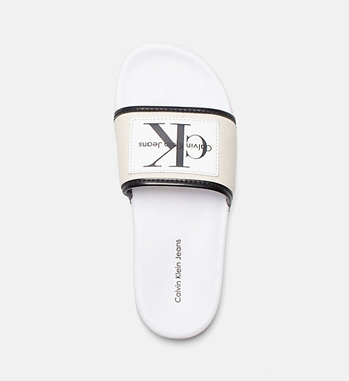 CALVIN KLEIN JEANS Canvas Sliders - NATURAL/WHITE - CALVIN KLEIN JEANS HEAT WAVE - detail image 1