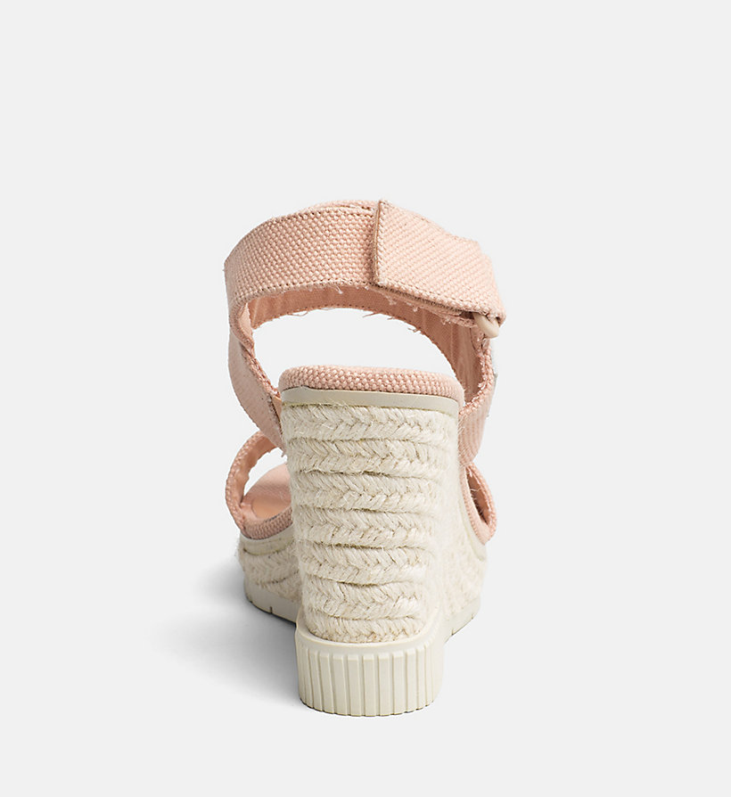 CALVIN KLEIN JEANS Canvas Wedge Sandals - OFF WHITE - CALVIN KLEIN JEANS WOMEN - detail image 3