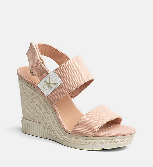 CALVIN KLEIN JEANS Canvas Wedge Sandals - DUSK - CALVIN KLEIN JEANS SANDALS - main image