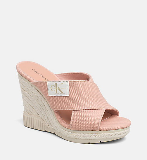 CALVIN KLEIN JEANS Canvas Wedge Sandals - DUSK -  SANDALS - main image