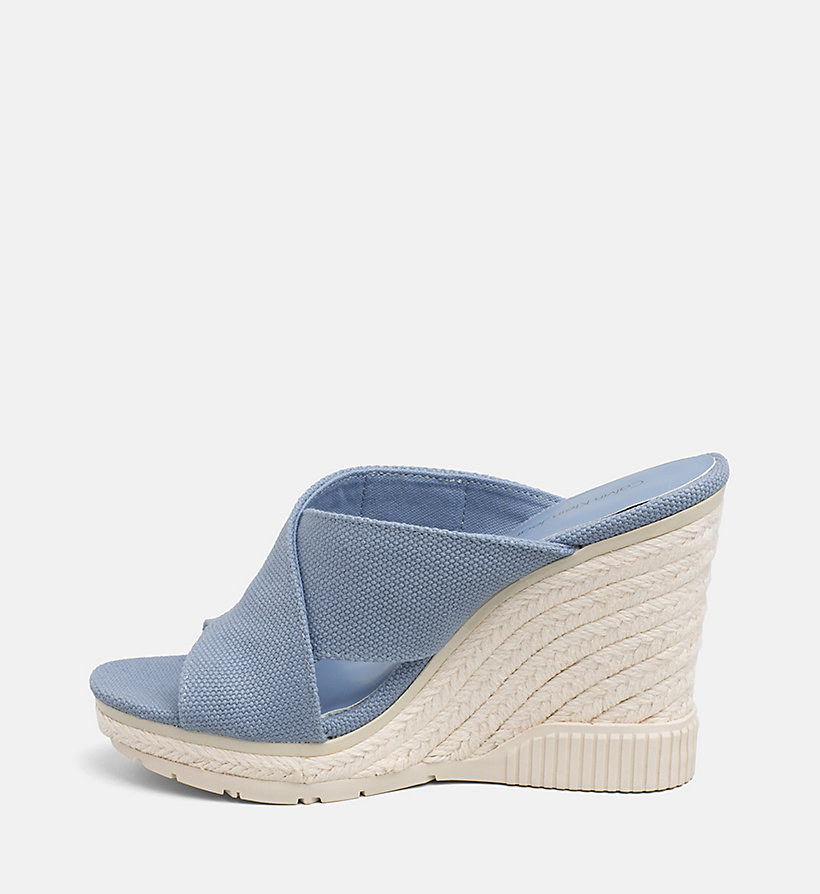 CALVIN KLEIN JEANS Canvas Wedge Sandals - DUSK - CALVIN KLEIN JEANS WOMEN - detail image 2