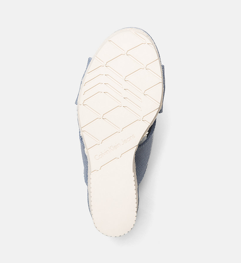 CALVIN KLEIN JEANS Canvas Wedge Sandals - DUSK - CALVIN KLEIN JEANS WOMEN - detail image 4