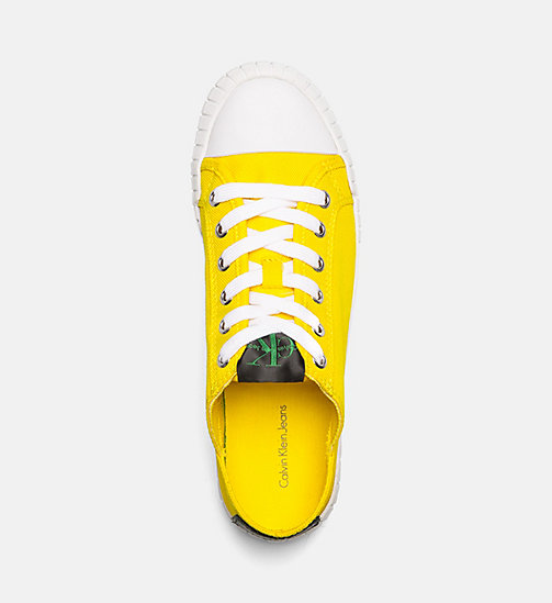CALVIN KLEIN JEANS Nylon Sneakers - ACCENT YELLOW - CALVIN KLEIN JEANS SHOES & ACCESORIES - detail image 1