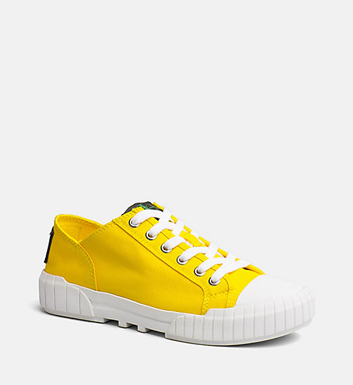 CALVIN KLEIN JEANS Nylon Sneakers - ACCENT YELLOW - CALVIN KLEIN JEANS SHOES & ACCESORIES - main image