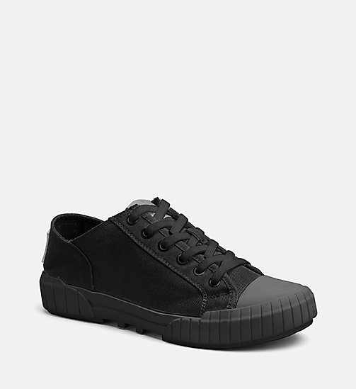 CALVIN KLEIN JEANS Nylon Sneakers - BLACK/BLACK - CALVIN KLEIN JEANS TRAINERS - main image