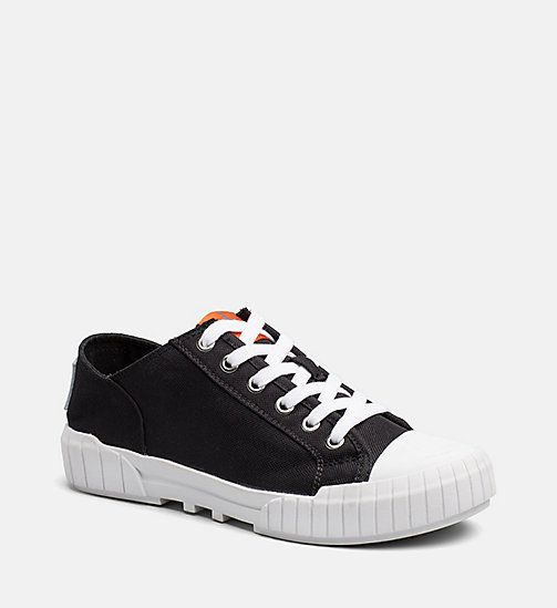 CALVIN KLEIN JEANS Nylon Sneakers - BLACK -  TRAINERS - main image