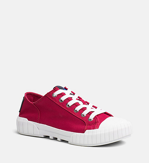 CALVIN KLEIN JEANS Baskets en nylon - DARK RED - CALVIN KLEIN JEANS TRUE COLOURS - image principale
