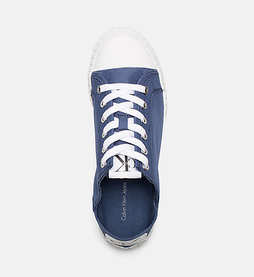 CALVIN KLEIN JEANS Nylon Sneakers - STEEL BLUE - CALVIN KLEIN JEANS TRAINERS - detail image 1