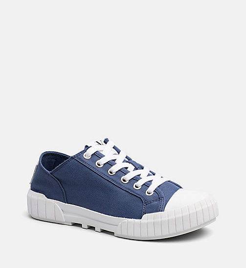 CALVIN KLEIN JEANS Nylon Sneakers - STEEL BLUE - CALVIN KLEIN JEANS TRAINERS - main image