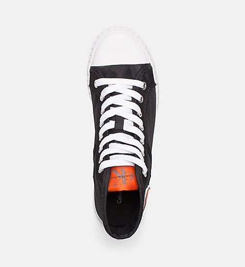 CALVIN KLEIN JEANS Nylon High-Top Sneakers - BLACK -  TRAINERS - detail image 1