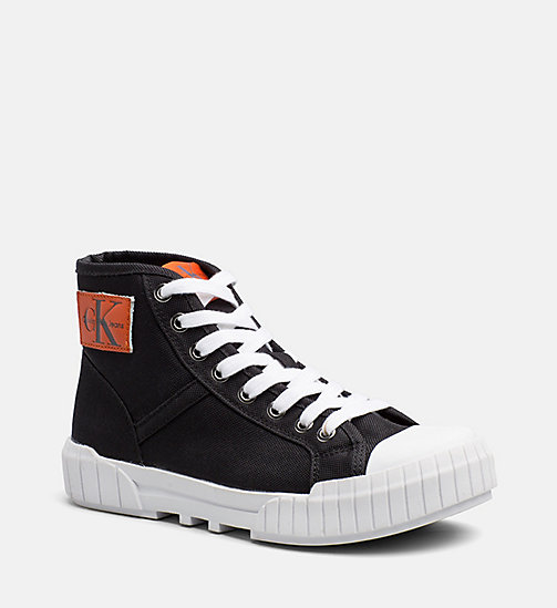 CALVIN KLEIN JEANS Nylon High-Top Sneakers - BLACK -  TRAINERS - main image