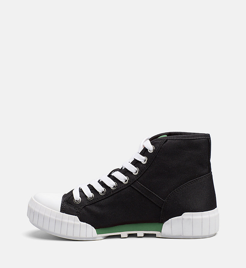 CALVIN KLEIN JEANS Nylon High-Top Sneakers - BLACK - CALVIN KLEIN JEANS WOMEN - detail image 2