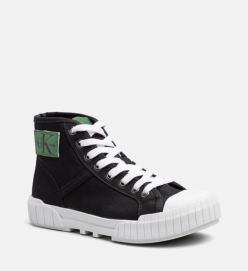 CALVIN KLEIN JEANS Nylon High-Top Sneakers - BLACK - CALVIN KLEIN JEANS WOMEN - main image