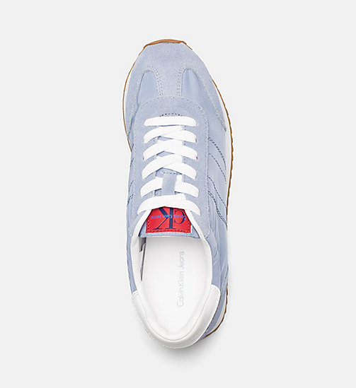 CALVIN KLEIN JEANS Suede Nylon Sneakers - LIGHT BLUE - CALVIN KLEIN JEANS BLUES MASTER - detail image 1