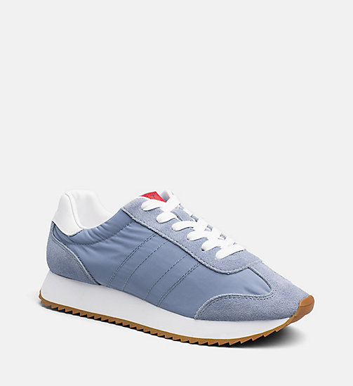 CALVIN KLEIN JEANS Suede Nylon Sneakers - LIGHT BLUE - CALVIN KLEIN JEANS BLUES MASTER - main image