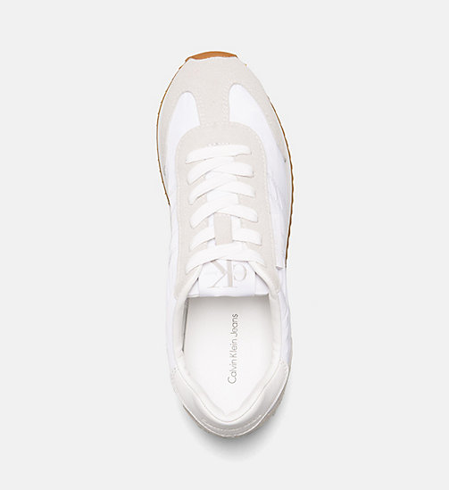 CALVIN KLEIN JEANS Suede Nylon Sneakers - OFF WHITE - CALVIN KLEIN JEANS SHOES & ACCESORIES - detail image 1