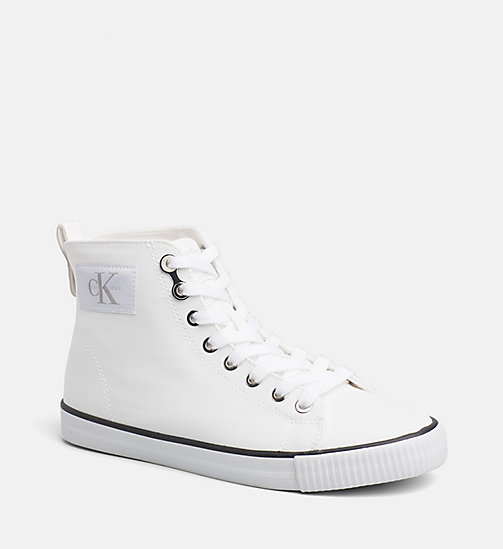 CALVIN KLEIN JEANS High-Top Sneakers - WHITE -  TRAINERS - main image