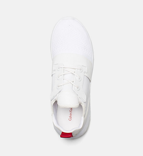 CALVIN KLEIN JEANS Knit Sneakers - WHITE - CALVIN KLEIN JEANS TRAINERS - detail image 1
