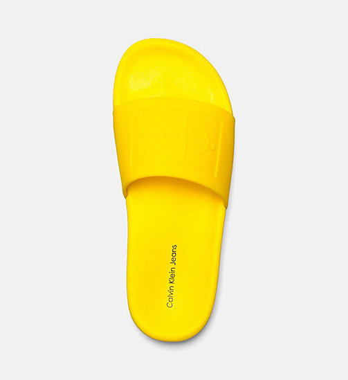 CALVIN KLEIN JEANS Jelly Sliders - ACCENT YELLOW - CALVIN KLEIN JEANS SLIDERS - detail image 1