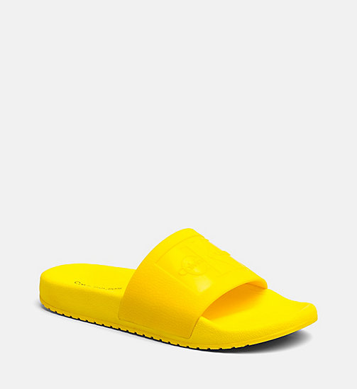 CALVIN KLEIN JEANS Jelly Sliders - ACCENT YELLOW - CALVIN KLEIN JEANS SLIDERS - main image