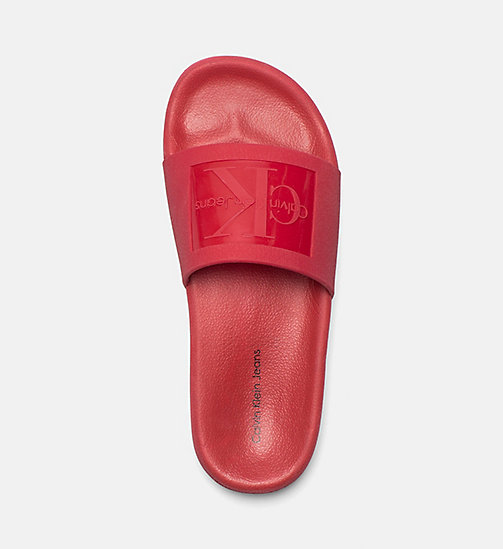 CALVIN KLEIN JEANS Jelly Sliders - DARK RED - CALVIN KLEIN JEANS SLIDERS - detail image 1