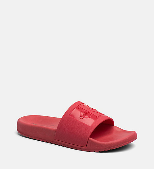 CALVIN KLEIN JEANS Jelly slippers - DARK RED - CALVIN KLEIN JEANS SLIPPERS - main image