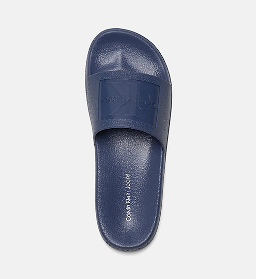 CALVIN KLEIN JEANS Jelly slippers - STEEL BLUE - CALVIN KLEIN JEANS SLIPPERS - detail image 1