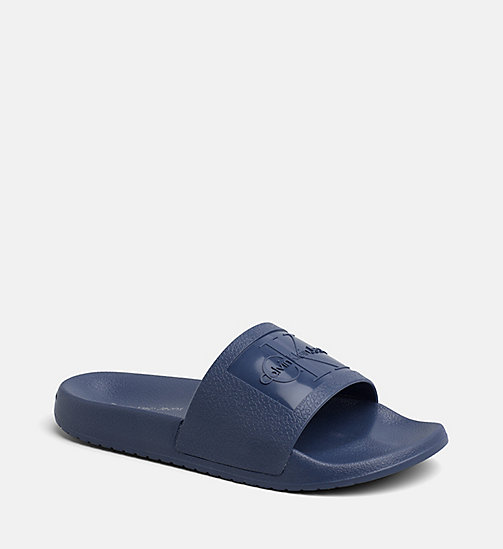 CALVIN KLEIN JEANS Jelly Sliders - STEEL BLUE - CALVIN KLEIN JEANS SWIMWEAR - main image