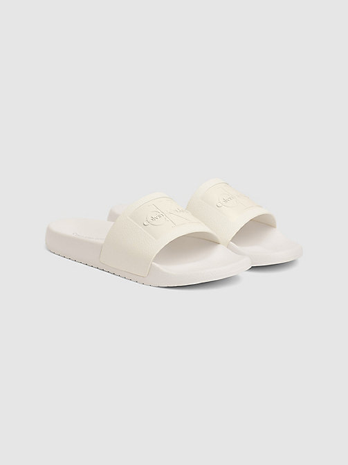 CALVIN KLEIN JEANS Jelly Sliders - WHITE - CALVIN KLEIN JEANS SLIDERS - detail image 1