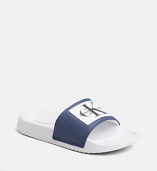 CALVIN KLEIN JEANS Nylon Sliders - STEEL BLUE - CALVIN KLEIN JEANS SLIDERS - main image