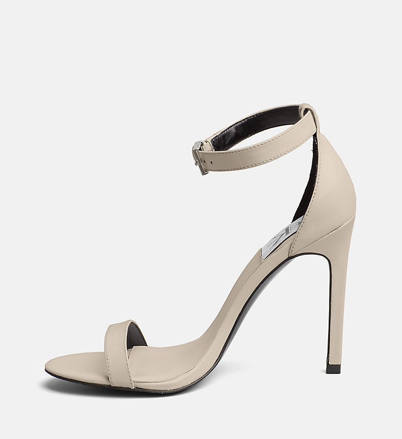 CALVIN KLEIN JEANS Patent Leather Heeled Sandals - WHITE - CALVIN KLEIN JEANS WOMEN - detail image 2