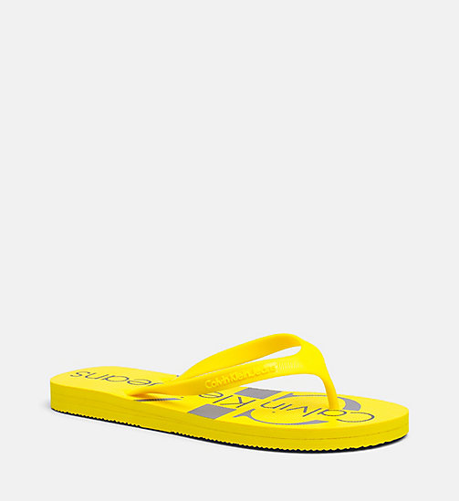 CALVIN KLEIN JEANS Jelly slippers - ACCENT YELLOW - CALVIN KLEIN JEANS SLIPPERS - main image