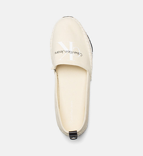 CALVIN KLEIN JEANS Canvas Slip-On Shoes - NATURAL/WHITE - CALVIN KLEIN JEANS SHOES & ACCESORIES - detail image 1