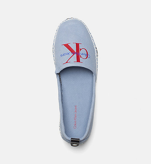 CALVIN KLEIN JEANS Denim Slip-On Shoes - LIGHT BLUE - CALVIN KLEIN JEANS LOGO SHOP - detail image 1