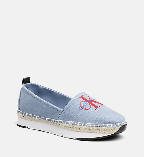 CALVIN KLEIN JEANS Denim Slip-On Shoes - LIGHT BLUE - CALVIN KLEIN JEANS FLAT SHOES - main image