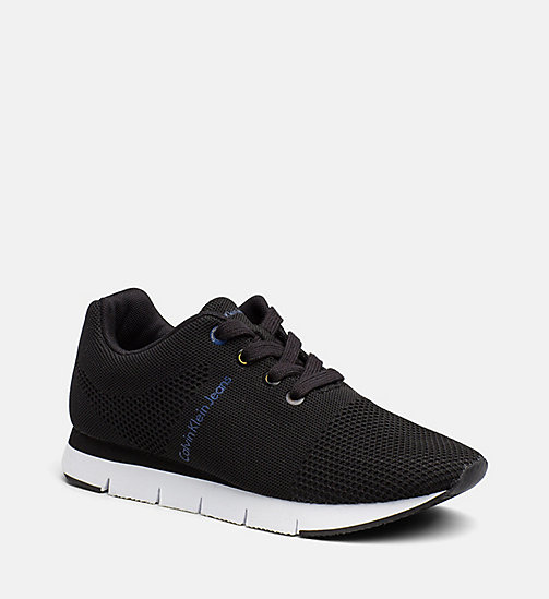 CALVIN KLEIN JEANS Mesh Sneakers - BLACK - CALVIN KLEIN JEANS TRAINERS - main image