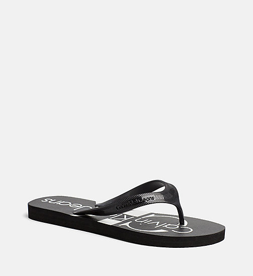 CALVIN KLEIN JEANS Jelly slippers - BLACK - CALVIN KLEIN JEANS SLIPPERS - detail image 1