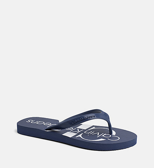 CALVIN KLEIN JEANS Jelly slippers - STEEL BLUE - CALVIN KLEIN JEANS SLIPPERS - main image
