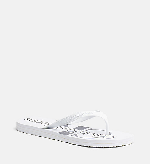 CALVIN KLEIN JEANS Jelly slippers - WHITE - CALVIN KLEIN JEANS SLIPPERS - detail image 1