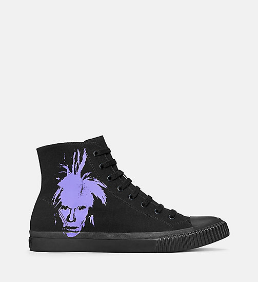 CALVIN KLEIN JEANS Warhol Portrait Canvas Sneakers - BLACK/PURPLE - CALVIN KLEIN JEANS TRAINERS - main image