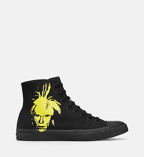 CALVIN KLEIN JEANS Warhol Portrait Canvas Sneakers - BLACK / YELLOW - CALVIN KLEIN JEANS TRAINERS - main image