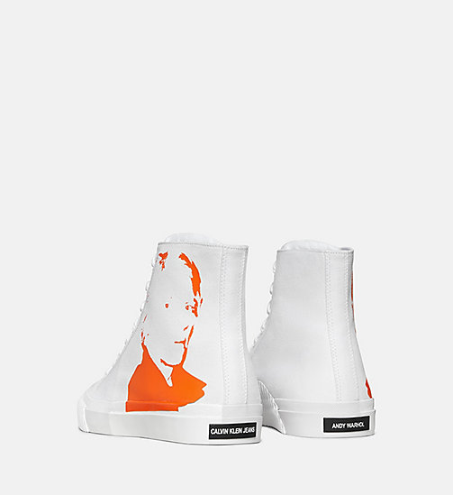 CALVIN KLEIN JEANS Warhol Portrait Canvas Sneakers - WHITE/ORANGE - CALVIN KLEIN JEANS TRAINERS - detail image 1