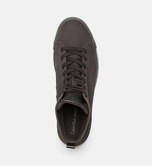 CALVIN KLEIN JEANS Canvas High-Top Sneakers - BLACK/BLACK - CALVIN KLEIN JEANS SHOES & ACCESSORIES - detail image 1