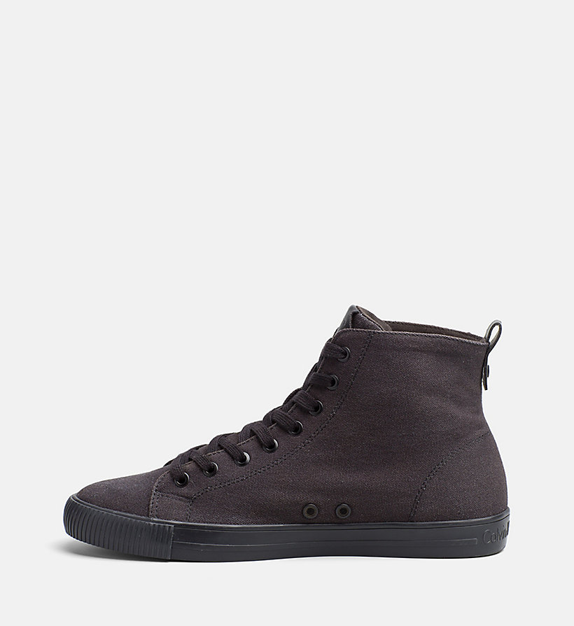 CALVIN KLEIN JEANS Canvas High-Top Sneakers - BLACK/NAVY - CALVIN KLEIN JEANS MEN - detail image 2