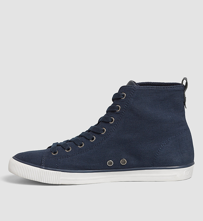 CALVIN KLEIN JEANS Canvas High-Top Trainers - BLACK/BLACK - CALVIN KLEIN JEANS MEN - detail image 2