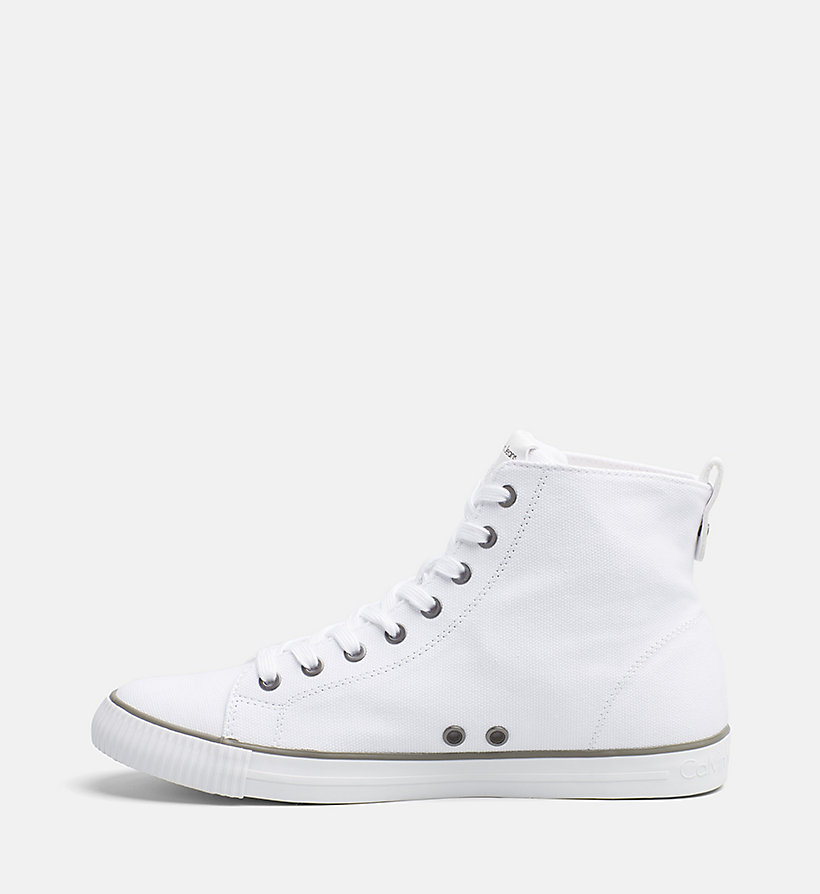 CALVIN KLEIN JEANS Canvas High-Top Sneakers - GREY - CALVIN KLEIN JEANS MEN - detail image 2