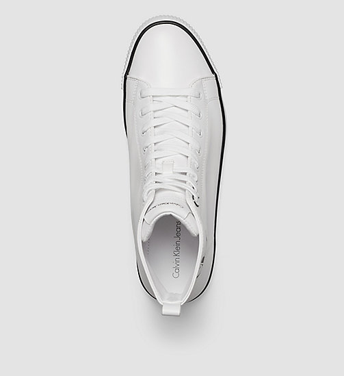 CALVIN KLEIN JEANS High-top sneakers - WHITE - CALVIN KLEIN JEANS SNEAKERS - detail image 1