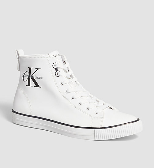 CALVIN KLEIN JEANS High-Top Sneakers - WHITE - CALVIN KLEIN JEANS SHOES - main image