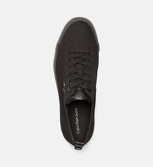 CALVIN KLEIN JEANS Canvas Sneakers - BLACK - CALVIN KLEIN JEANS SHOES - detail image 1