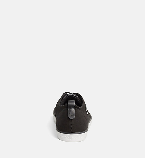 CALVIN KLEIN JEANS Canvas Sneakers - BLACK - CALVIN KLEIN JEANS SNEAKER - main image 1